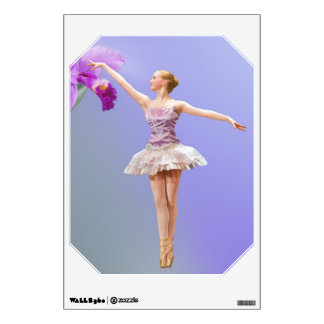 Ballerina and Orchid Wall Decal