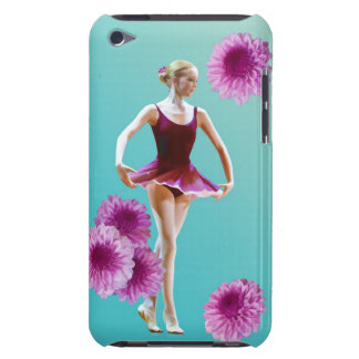Ballerina and Pink Mums iPod Case-Mate Barely