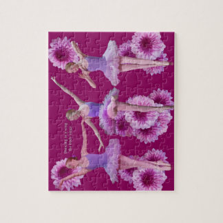 Ballerina and Pink Mums Puzzle