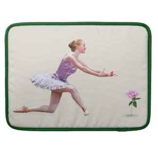 Ballerina and Pink Rose Sleeve For MacBooks