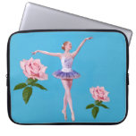 Ballerina and Pink Roses Computer Sleeves