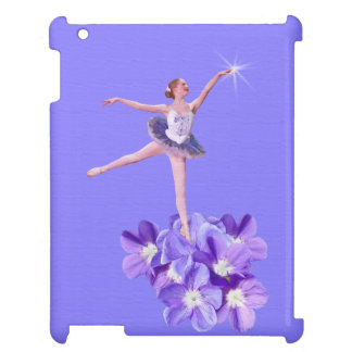 Ballerina and Violets Customizable iPad Covers