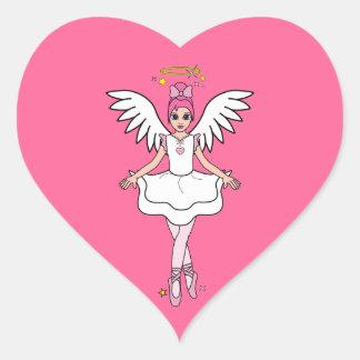Ballerina Angel Heart Sticker