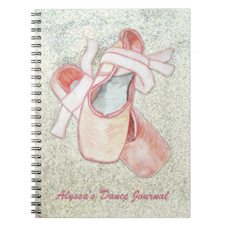 Ballerina Art Dancer Journal Custom Text