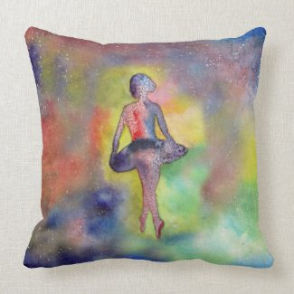Ballerina Art Painting Throw Pillow 51 cm x 51 cm