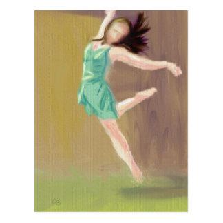 Ballerina Art Postcard