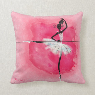 Ballerina at the barre throw pillow
