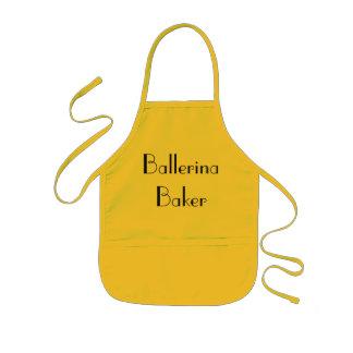 Ballerina Baker Quirky Yellow & Black Kids Apron