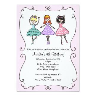 Ballerina Ballet Birthday Party Card