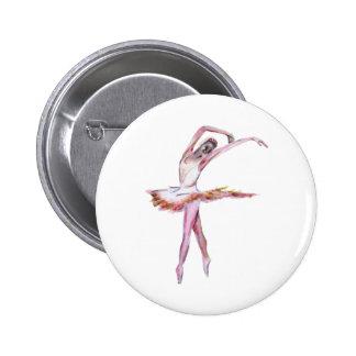 Ballerina , ballet dance art gifts, cards,t shirts 2 inch round button