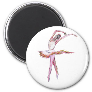 Ballerina , ballet dance art gifts, cards,t shirts 2 inch round magnet