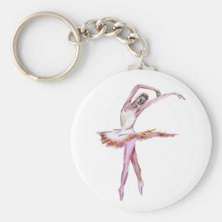 Ballerina , ballet dance art gifts, cards,t shirts basic round button keychain