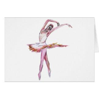 Ballerina , ballet dance art gifts, cards,t shirts greeting card