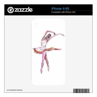 Ballerina , ballet dance art gifts, cards,t shirts iPhone 4S skin