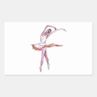 Ballerina , ballet dance art gifts, cards,t shirts rectangular sticker