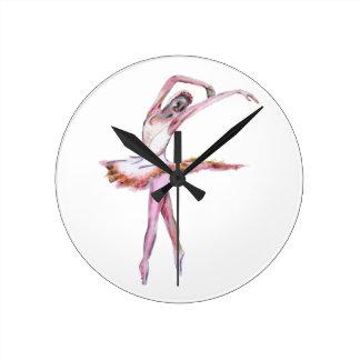 Ballerina , ballet dance art gifts, cards,t shirts round clock