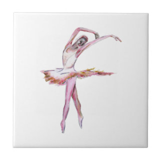 Ballerina , ballet dance art gifts, cards,t shirts small square tile