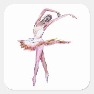 Ballerina , ballet dance art gifts, cards,t shirts square sticker