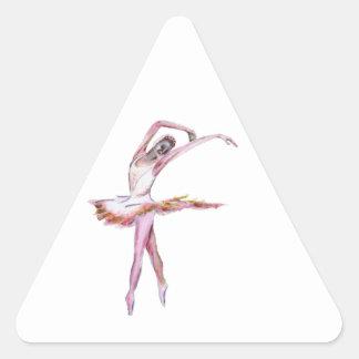 Ballerina , ballet dance art gifts, cards,t shirts triangle sticker