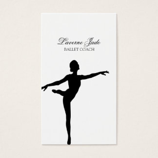 Ballerina Ballet Dance Teacher Instructor Business Card