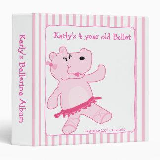 BALLERINA Ballet Pink Hippo Girl Photo Album Binder