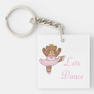 Ballerina Bear in Pink Tutu Keychain - Lets Dance