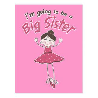 Ballerina Big Sister To Be Postcard