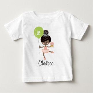Ballerina Birthday Baby T-shirt African American