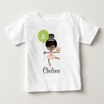 a1d754c95af0 Ballerina First Birthday T-shirt 1st Redhead
