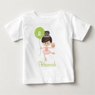 Ballerina Birthday Infant T-shirt Brunette