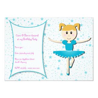 ballerina Birthday Invitation