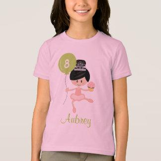 Ballerina Birthday Kids Ringer T-Shirt Asian