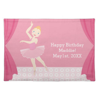 Ballerina birthday party cloth placemat