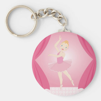 Ballerina birthday party keychain