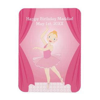 Ballerina birthday party magnet