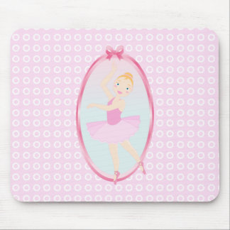 Ballerina birthday party mouse pad