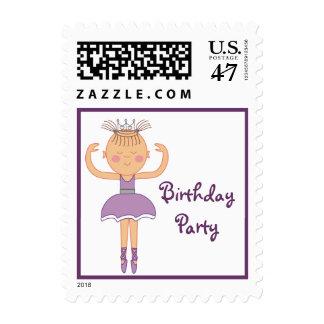 Ballerina Birthday Party Postage