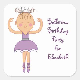 Ballerina Birthday Party Stickers