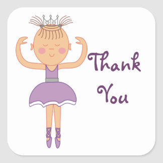 Ballerina Birthday Party Thank You Stickers