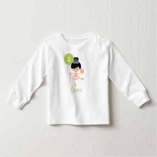 Ballerina Birthday Toddler T-shirt Asian