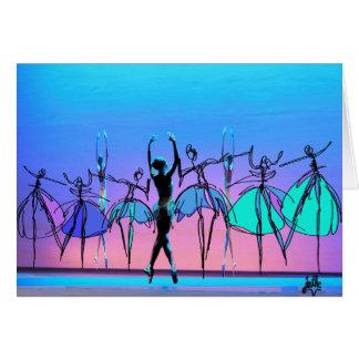 Ballerina blank card