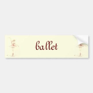 Ballerina Car Bumper Sticker