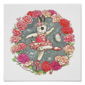 Ballerina Bunny Print Carnation