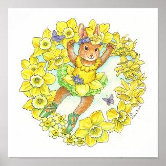 Ballerina Bunny Print Jonquil
