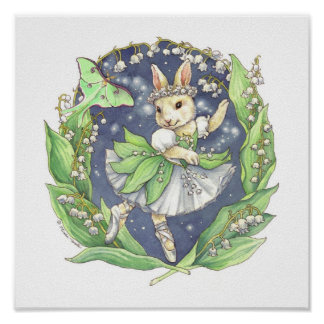 Ballerina Bunny Print Lily of the Valley