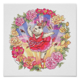Ballerina Bunny Print Rose