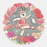 Ballerina Bunny Stickers Carnation