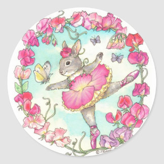 Ballerina Bunny Stickers Sweet Pea
