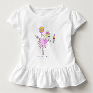 Ballerina can be customized with name of child toddler t-shirt