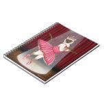 Ballerina Cat Chocolate Point Siamese Cat Notebook